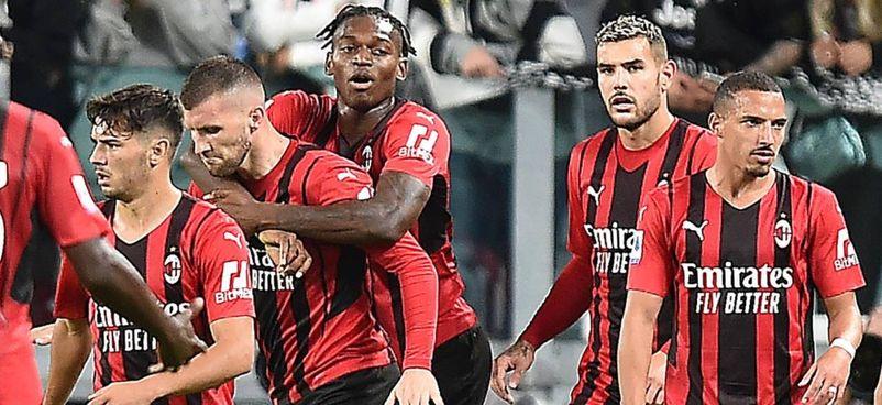 Da sinistra Brahim Diaz, Ante Rebic, Leao, Theo Hernandez e Ismael Bennacer: anche oggi il Milan si presenterà all'Atalanta con una squadra giovanissima, nella quale Rebic sarà il più 'anziano' in campo con i suoi 28 anni