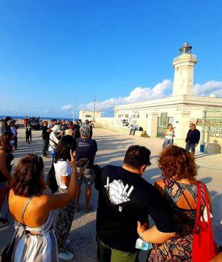 La manifestazione di ieri a Lampedusa per la commemorazone dei morti del 3 ottobre 2013