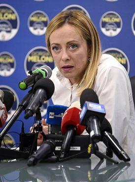 La leader di Fratelli d'Italia Giorgia Meloni, 44 anni