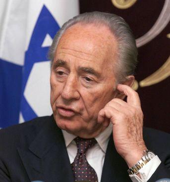 Shimon Peres (1923 - 2016), presidente di Israele 2007 - 2014 e Nobel per la pace nel 1994