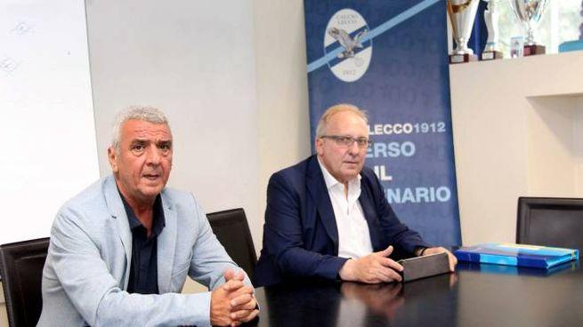 Il presidente Evaristo Beccalossi insieme al patron  Daniele Bizzozero