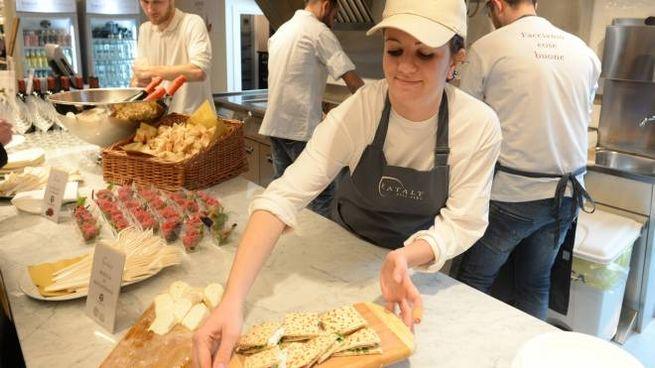 Forlì, le pietanze preparate a Eataly (foto Frasca)