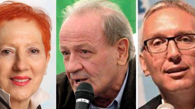 Da sinistra Donini, Marcolini e Ceriscioli (Foto Ansa)