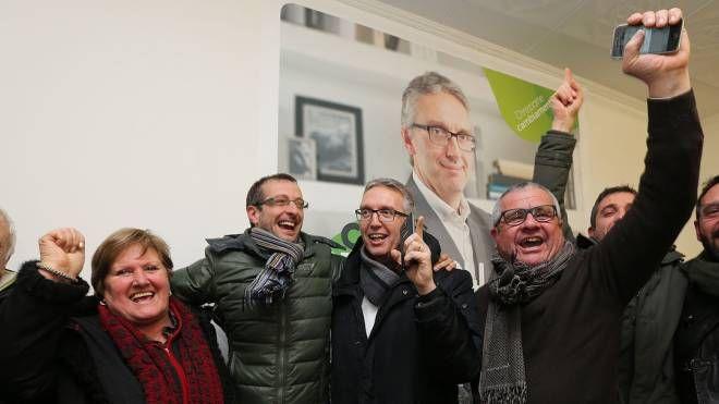 Pesaro, Luca Ceriscioli festeggia la vittoria delle elezioni primarie (Fotoprint)