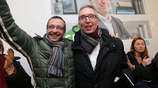 Pesaro, Ceriscioli festeggia con Ricci la vittoria delle primarie (Fotoprint)