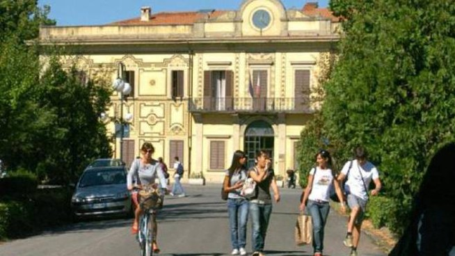 L'esterno dell'università di Arezzo
