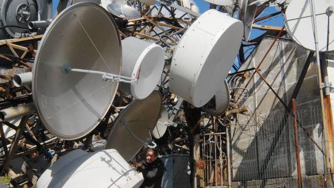 I ripetitori della televisione sobo crollati abbattuti dalla tempesta