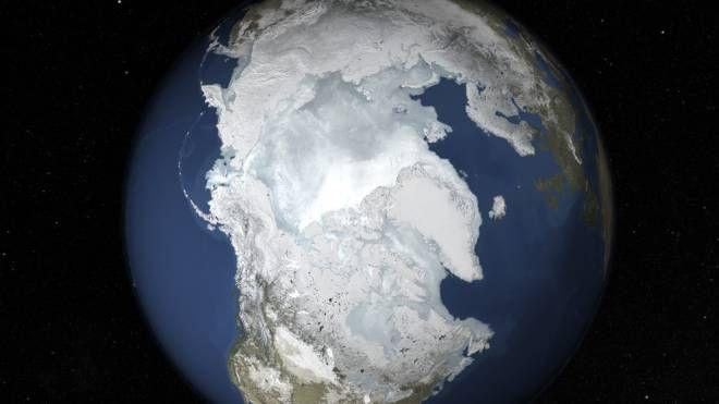Ghiacci dell'Artico in inverno come in estate (Olycom)