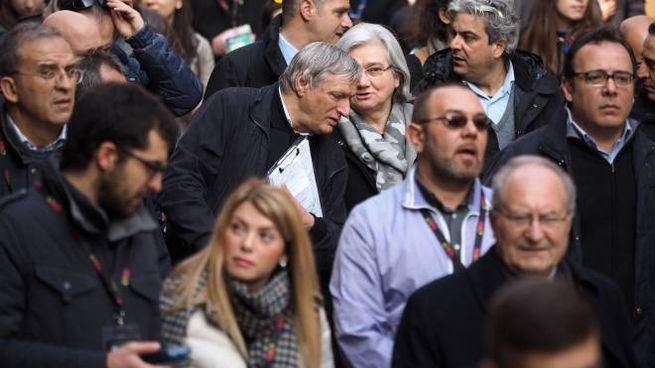 Bologna, Don Ciotti e Rosy Bindi al corteo di Libera (FotoSchicchi)