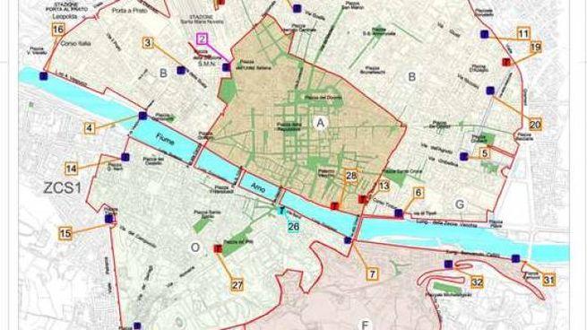 La mappa della nuova ztl