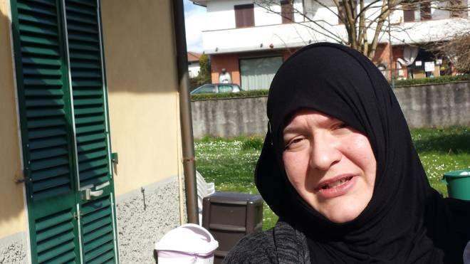 La moglie di Haida Abdelmounaim  (foto Alcide)