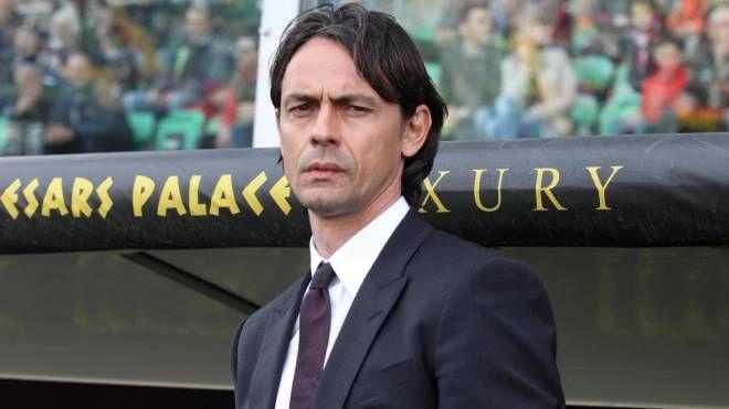 Filippo Inzaghi torna a lavorare a ranghi ridotti (Ansa)