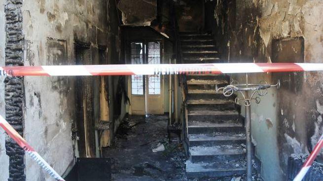 L'incendio nella casa di Cerro Maggiore