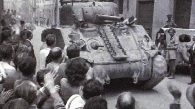 Una foto d'archivio del 25 aprile 1945