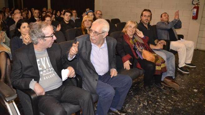 Il regista Ponzi e Francesco Nuti (foto Attalmi)