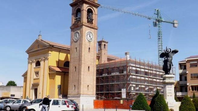 La chiesa di San Martino in piazza Foresti a Conselice