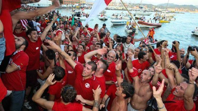 Le Grazie in festa per la vittoria del Palio del Golfo (Frascatore)