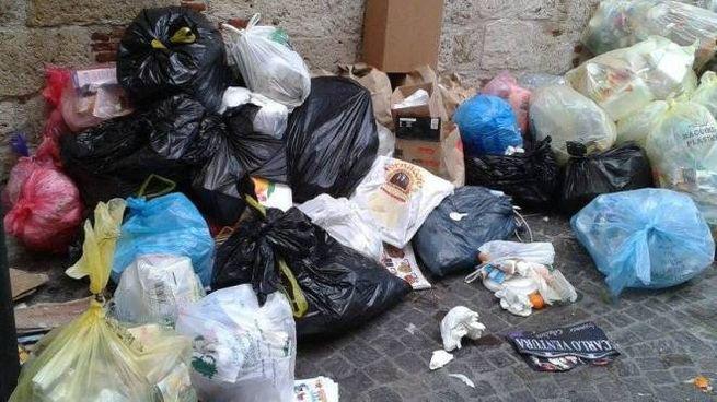 Caos rifiuti, una delle foto inviataci dalla nostra lettrice su Facebook