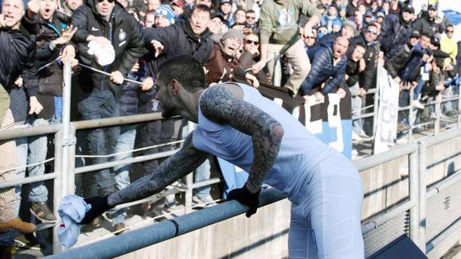 Mauro Icardi durante Sassuolo-Inter (Ansa)