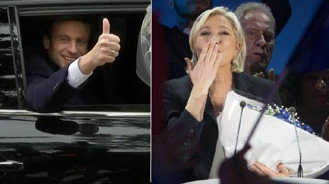 Emmanuel Macron e Marine Le Pen (LaPresse)