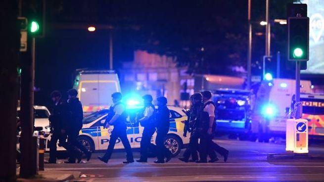 Attentato a Londra, polizia in azione (Afp)