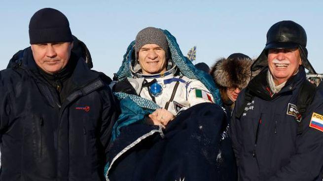 Paolo Nespoli, il ritorno sulla Terra (foto Afp)