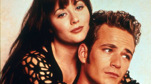 Shannen Doherty e Luke Perry (foto Afp)