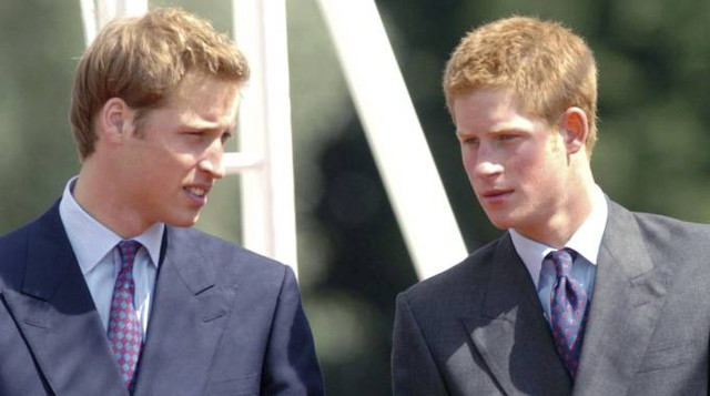 William e Harry in una foto del 2004 (Ansa)