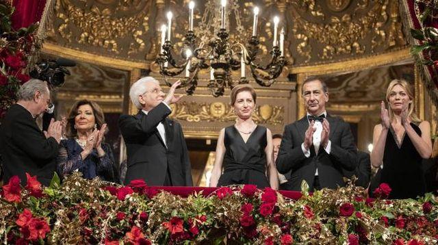 Prima della Scala, palco reale con Sergio Mattarella