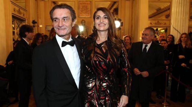 Attilio Fontana e la figlia