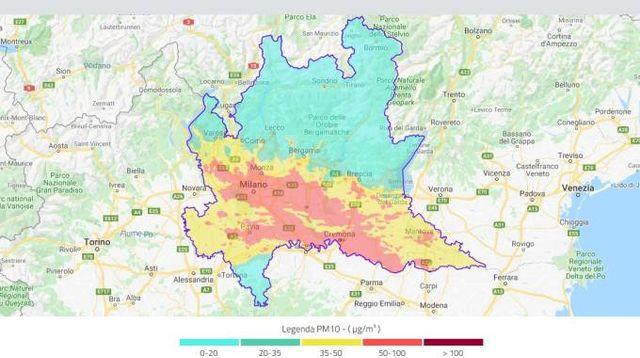 Cartina Inquinamento Lombardia.Smog In Lombardia Polveri Sottili Ancora Sopra La Soglia D