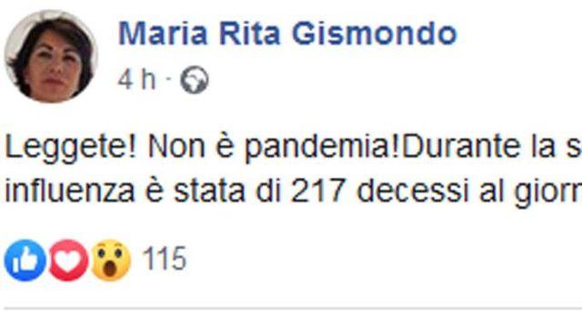 Maria Rita Sigismondo's Facebook post