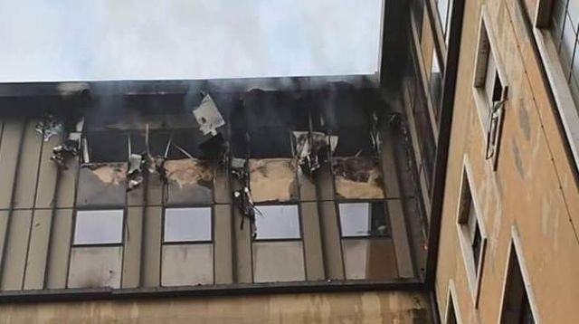 Milano, incendio al Palazzo di Giustizia