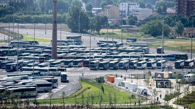 Il parcheggio di Merlata si trova a sud del sito dell'Expo (Newpress)
