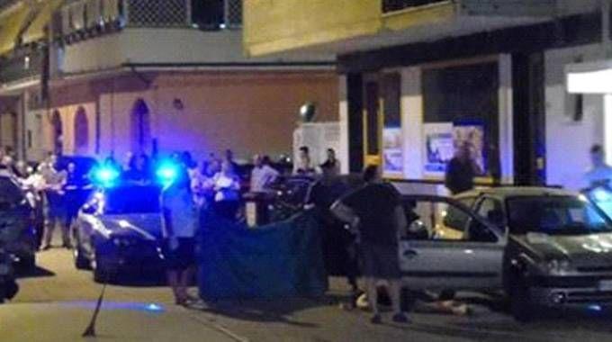 Martinsicuro, la scena dell'omicidio di Roberto Tizi (Foto Ansa)