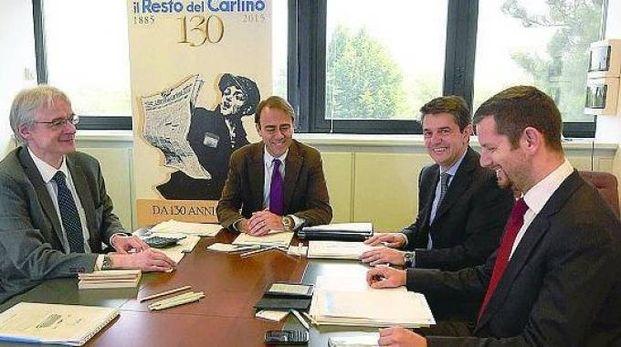 Da sinistra: Roberto Uberti, Andrea Cangini, Alberto Federici e Marco Pizzica