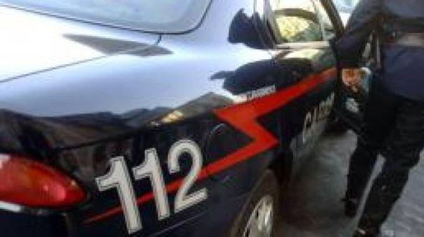 Un intervento dei carabinieri