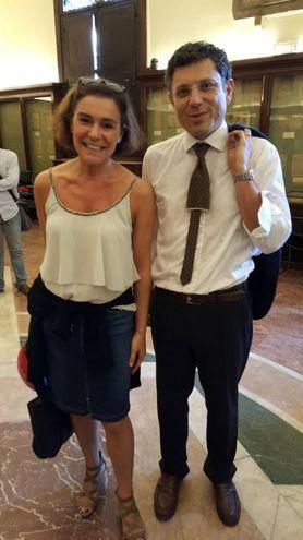 Il neo-Rettore Ubertini con Elisabetta Gualmini, vicepresidente della Regione