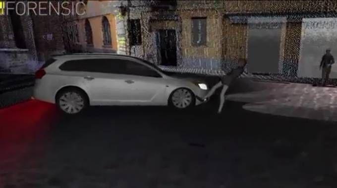 La ricostruzione 3D dell'incidente