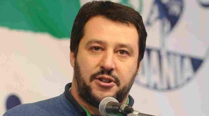 Il leader del Carroccio, Matteo Salvini