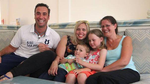 La famiglia inglese di Simon Cook ospite a Ravenna (Foto Zani)