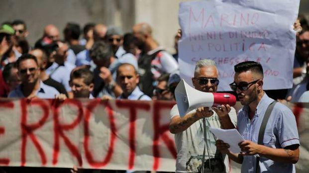 Manifestazione degli autisti Atac
