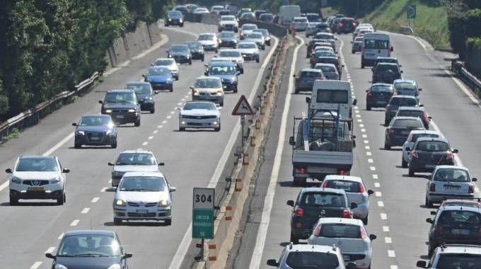 Traffico in autostrada (Foto di repertorio Ansa)