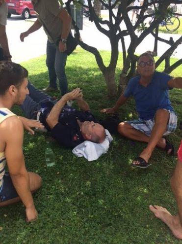 Il poliziotto ferito