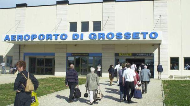 L'ingresso all'aeroporto Baccarini