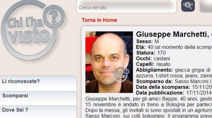 'Chi l'ha visto?' si occupa del caso di Giuseppe Marchetti
