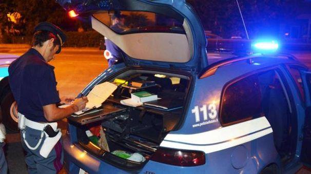 Controlli della polizia a Rimini (foto di repertorio)