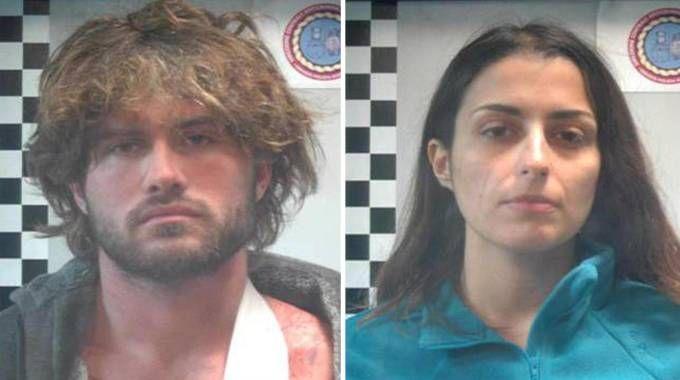 Alexander Boettcher e Martina Levato quando vennero arrestati