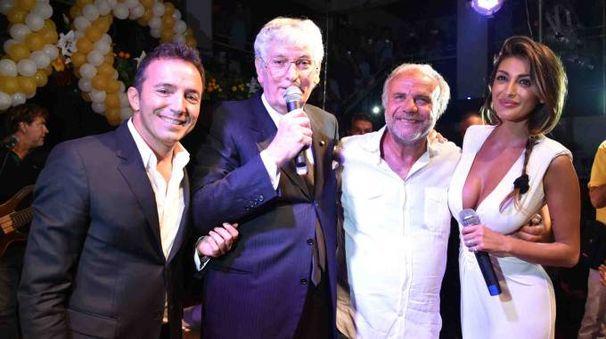 Stefano Busà, Gherardo Guidi, Jerry Calà e Caterina Buccino (foto Fabrizio Nizza)