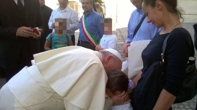 Debora Lulli ricevuta da Papa Francesco